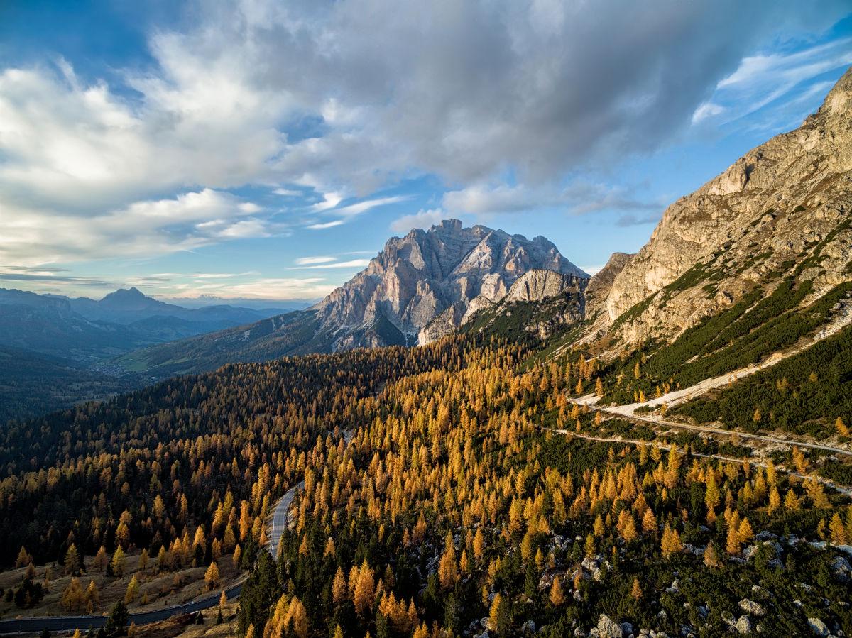 Dolomites Italy drone