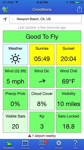 UAV Forecast drone app