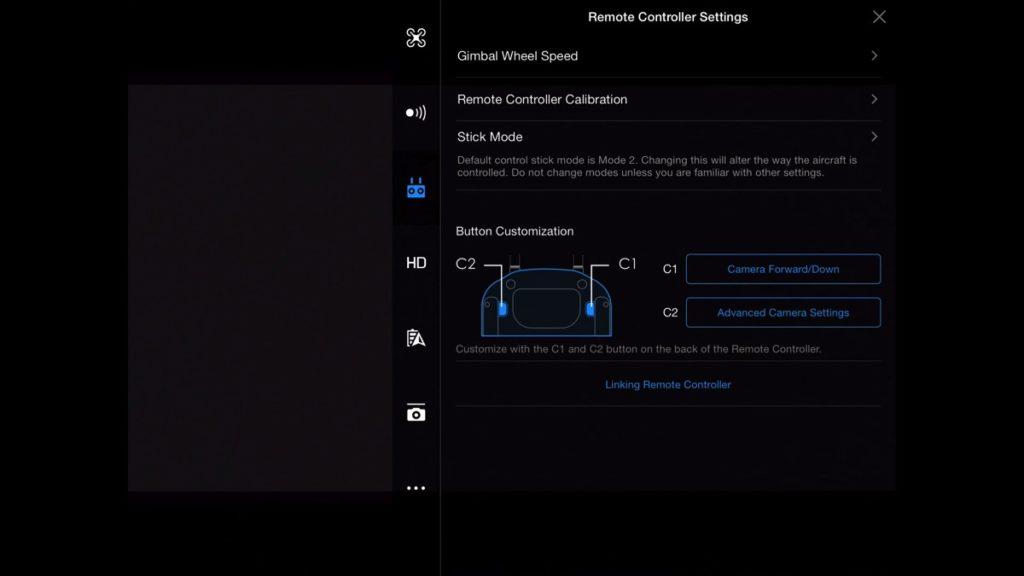 Remote Controller Settings-DJI Go App Drone