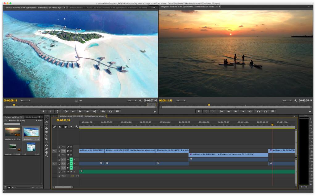 Adobe Premeire CC panels