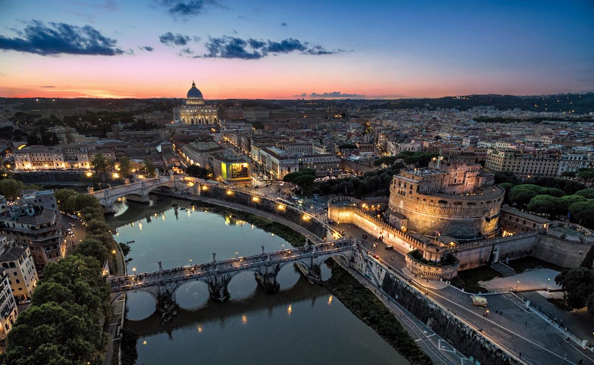 Rome, Italy drone