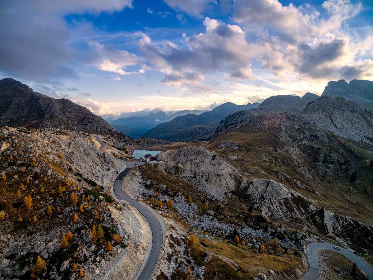 Dolomite Italy drone