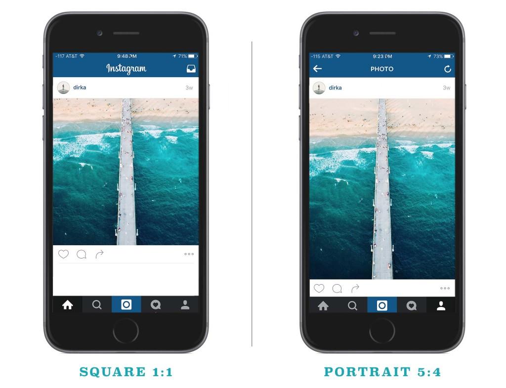 Instagram square vs portrait mode