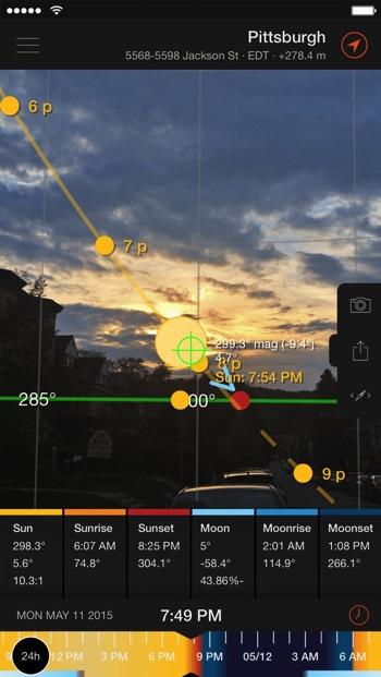 Sun Surveyor app for drone pilots