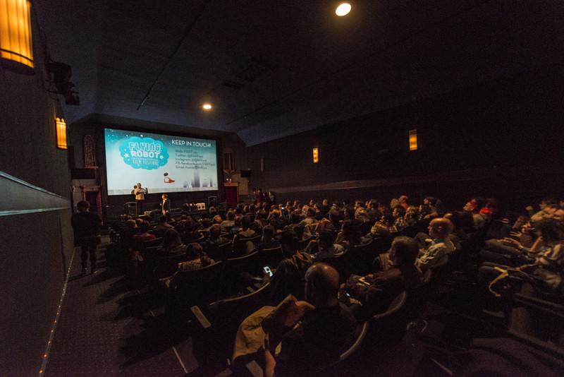 The Flying Robot international Film Festival room