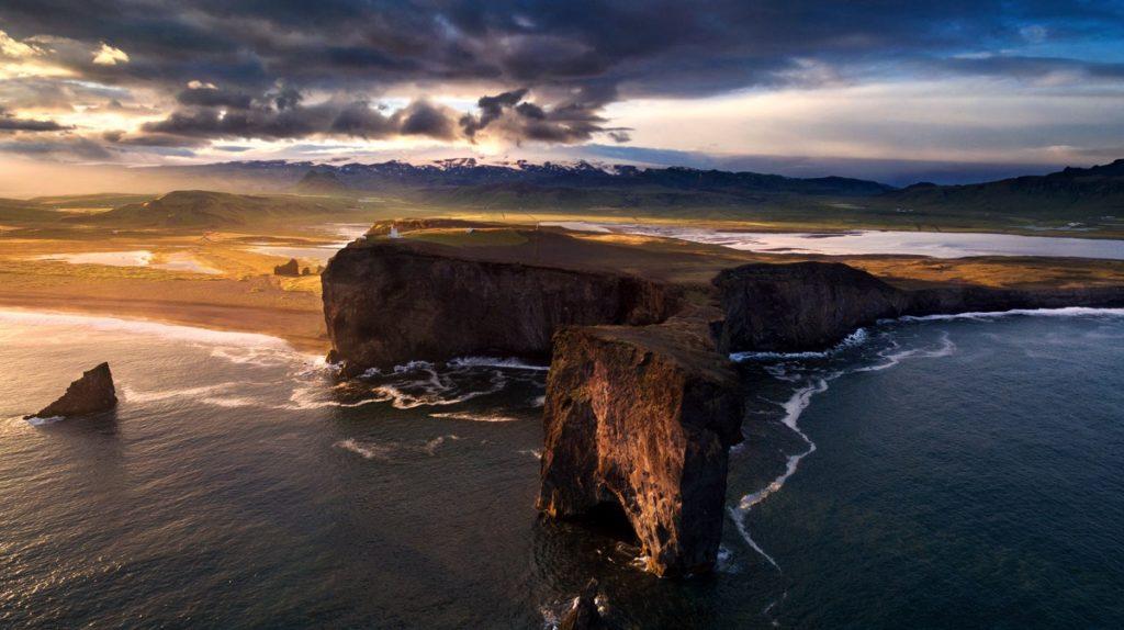 3 Iceland-cape drone photo video