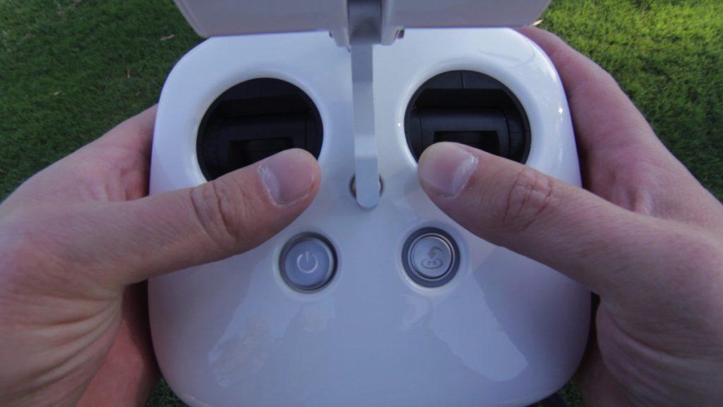 starting up phantom drone