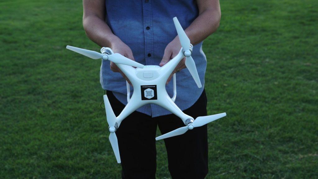 drone calibrate facing down