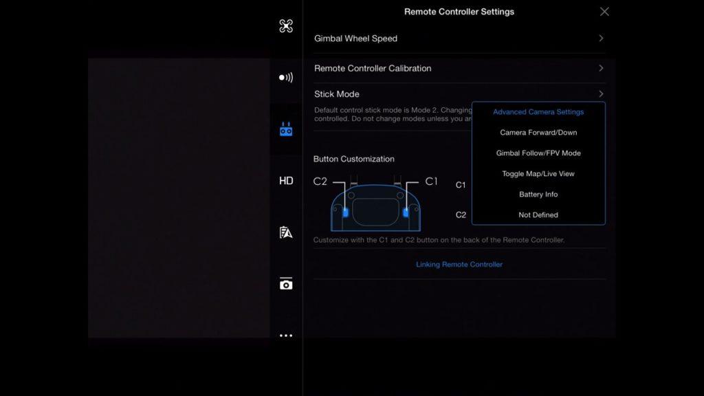 Button Customization-DJI Go App Drone