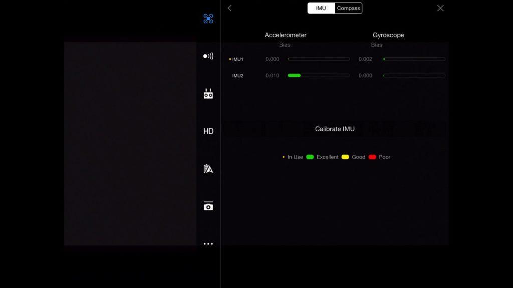 Gain & Expo Settings - IMU-DJI Go App Drone