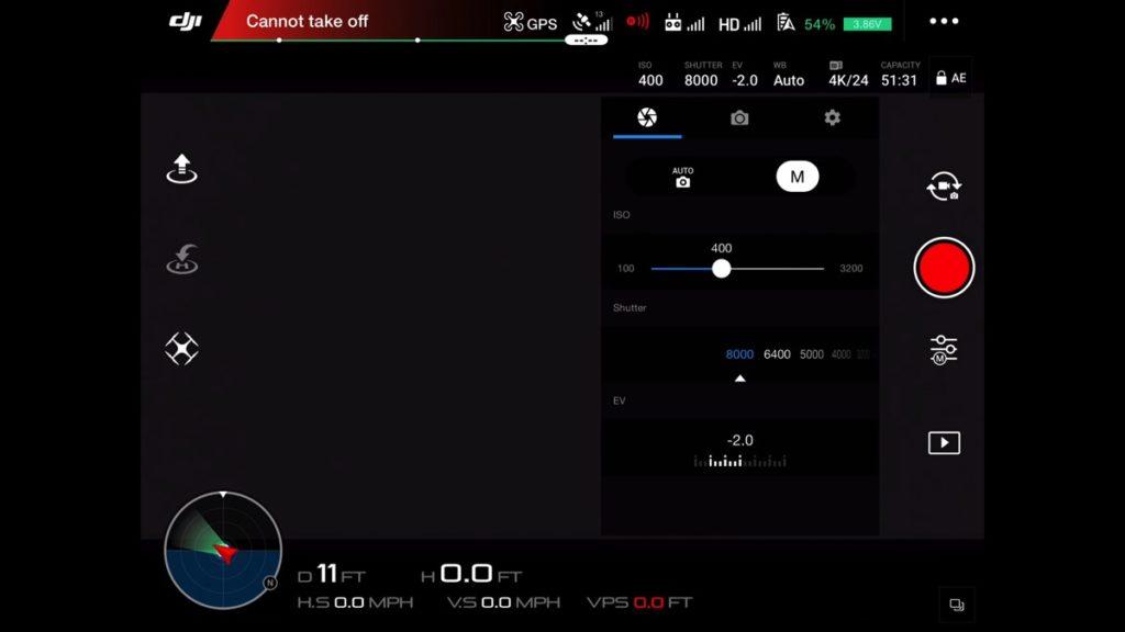 Manual Camera Settings-DJI Go App Drone