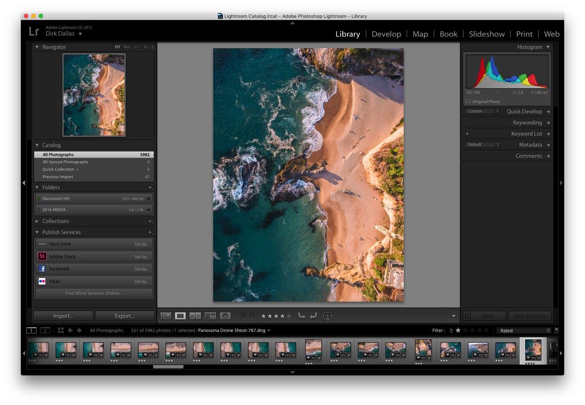 Adobe Lightroom drone
