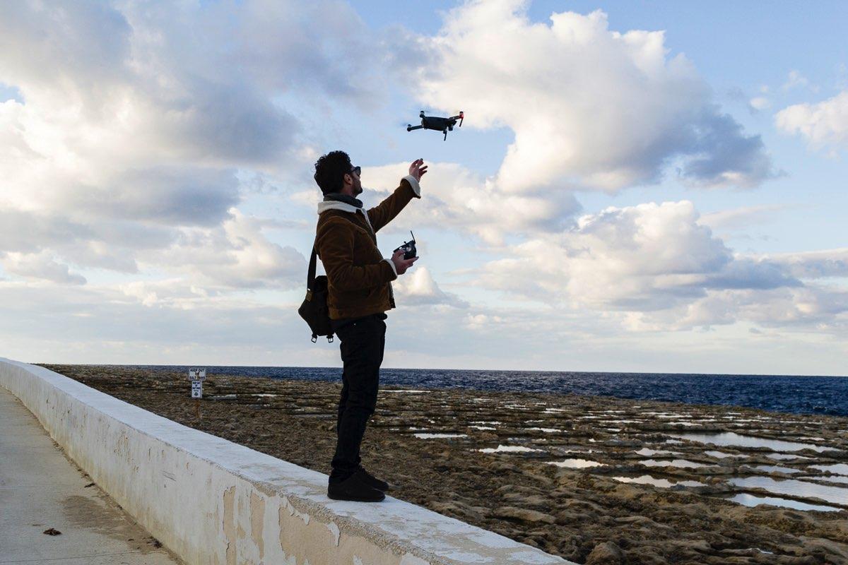 drone Malta flying 2