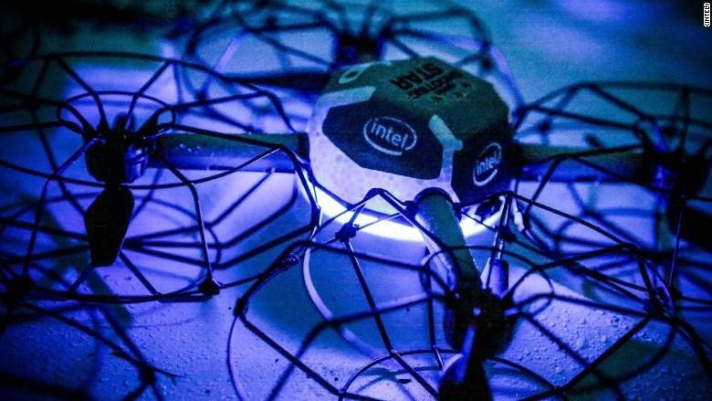 intel Super Bowl drone