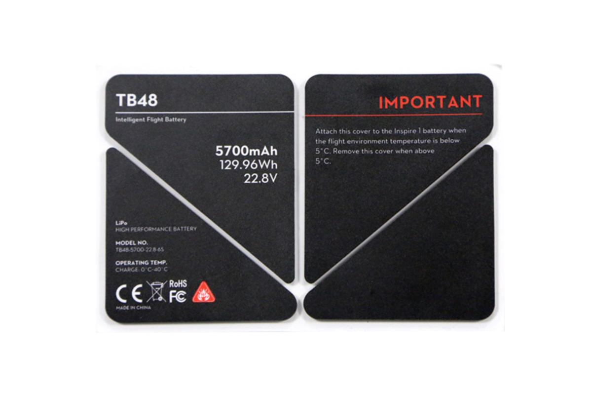 dji inspire pro battery insulation sticker