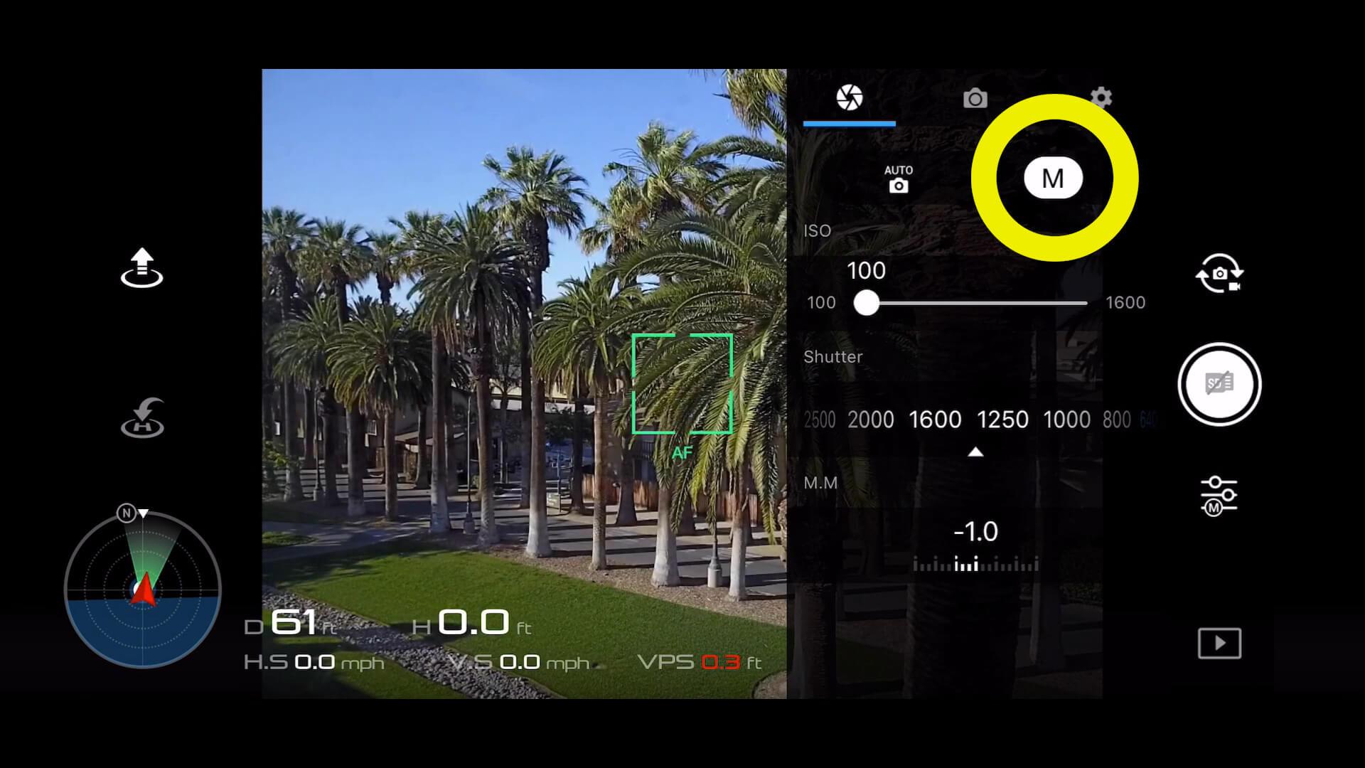 1 basic camera settings for dji drone photos - 1 manual mode