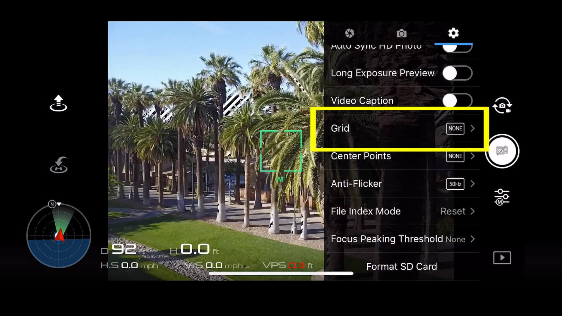 12 basic camera settings for dji drone photos - grid