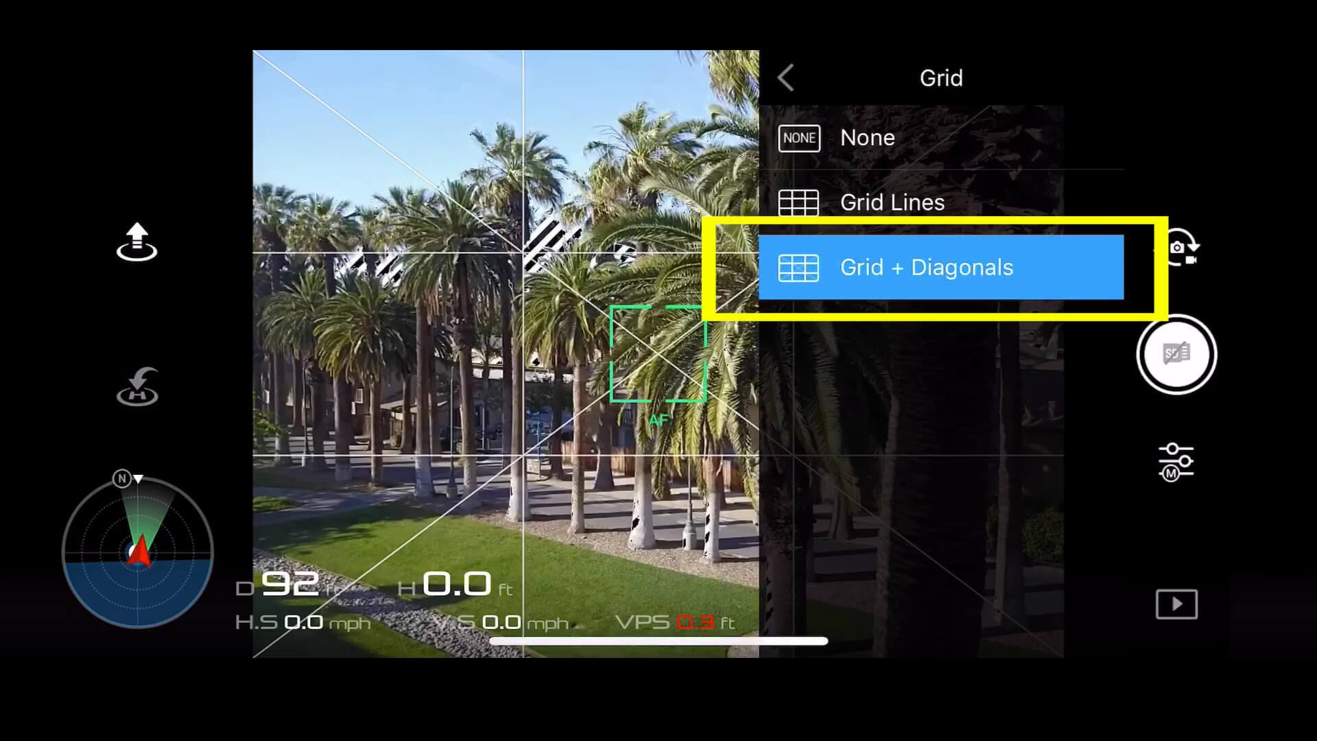 13 basic camera settings for dji drone photos - grid