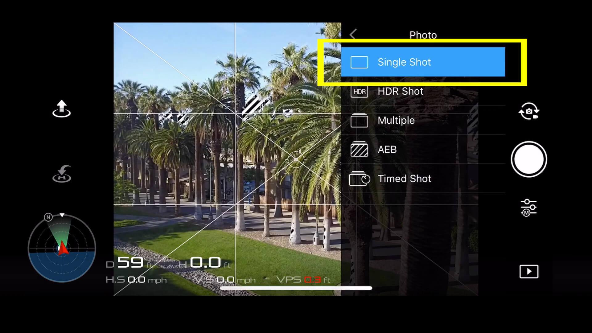 17 basic camera settings for dji drone photos - single shot