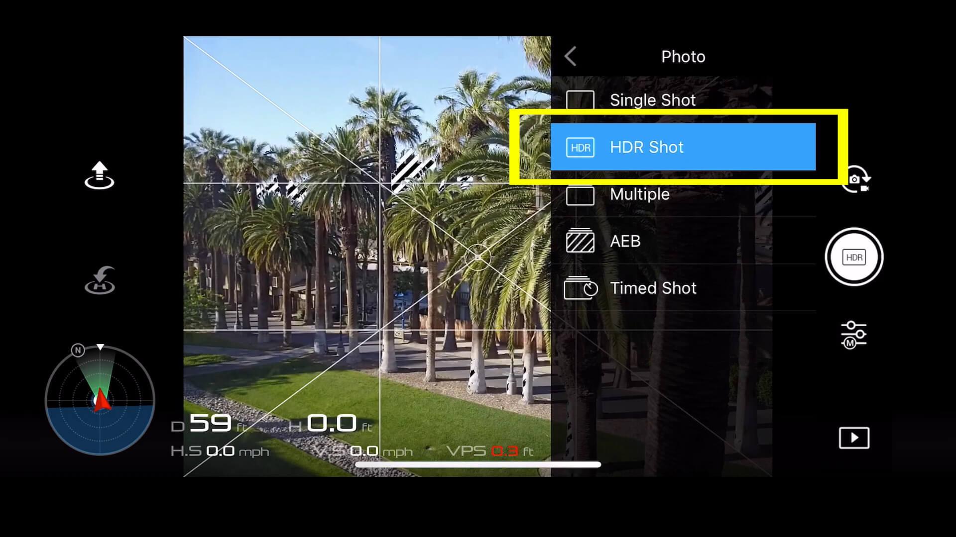 18 basic camera settings for dji drone photos - HDR