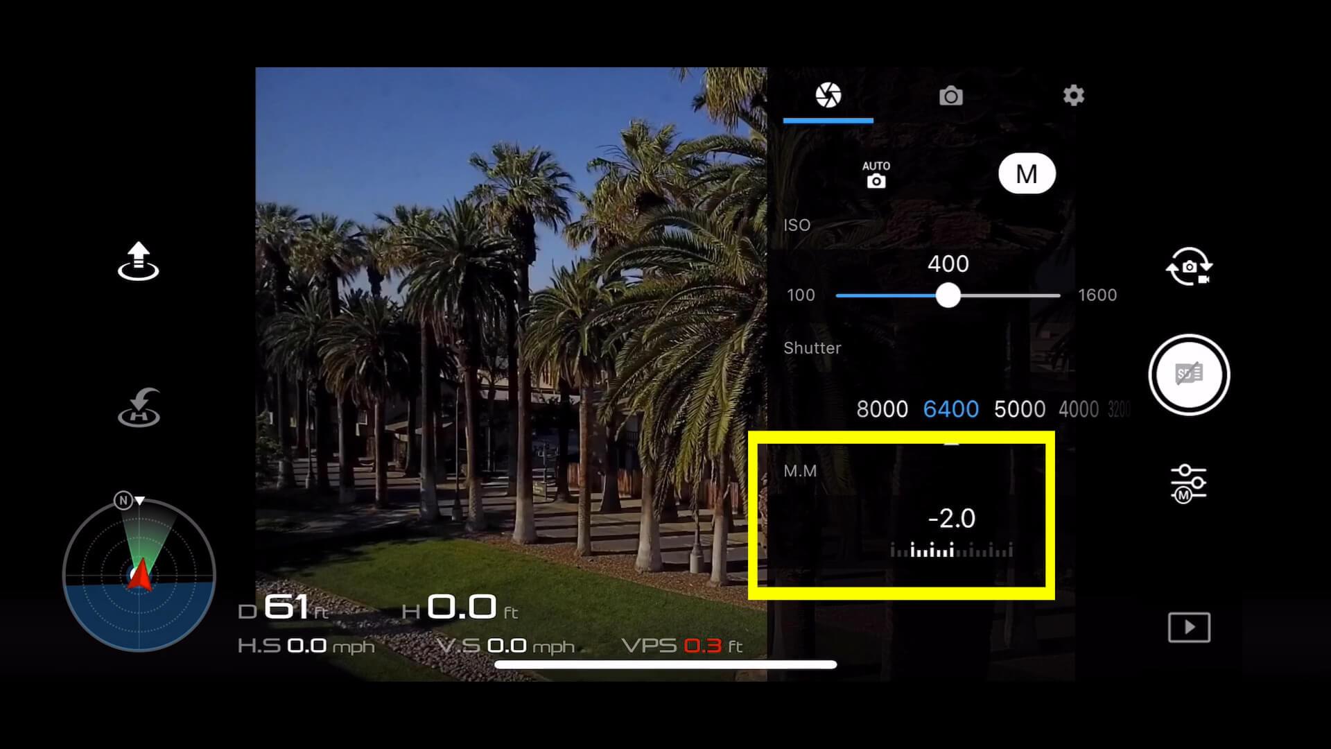 3 basic camera settings for dji drone photos - 3 MM EV meter