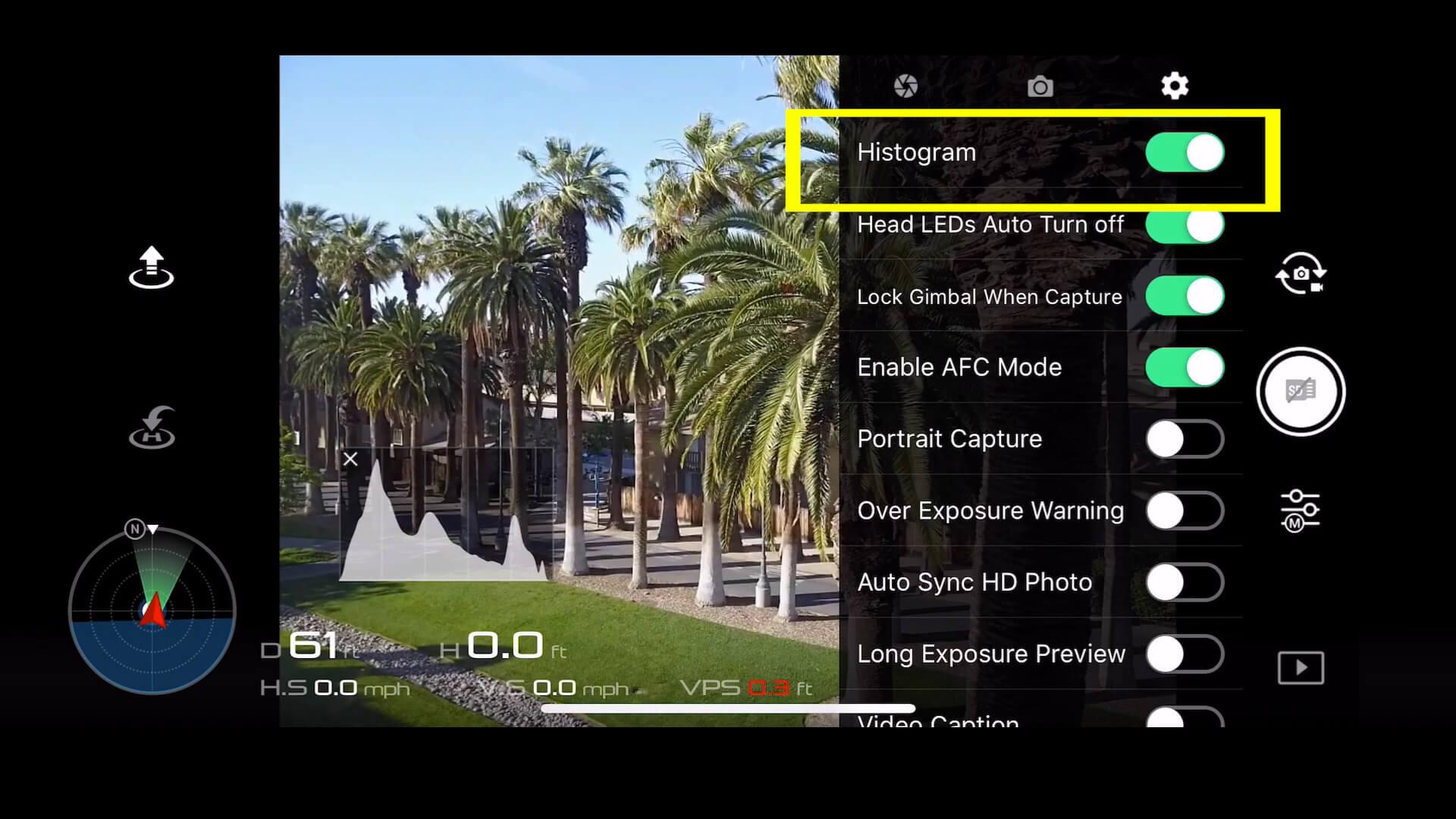 5 basic camera settings for dji drone photos - 4 histogram - b