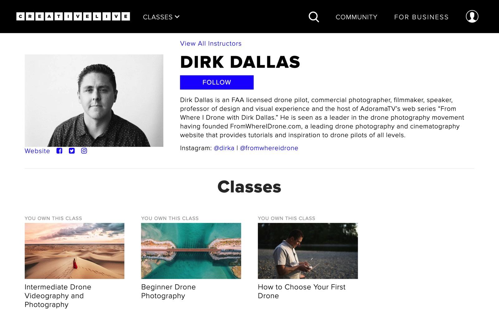 Dirk Dallas CreativeLive Drone Courses