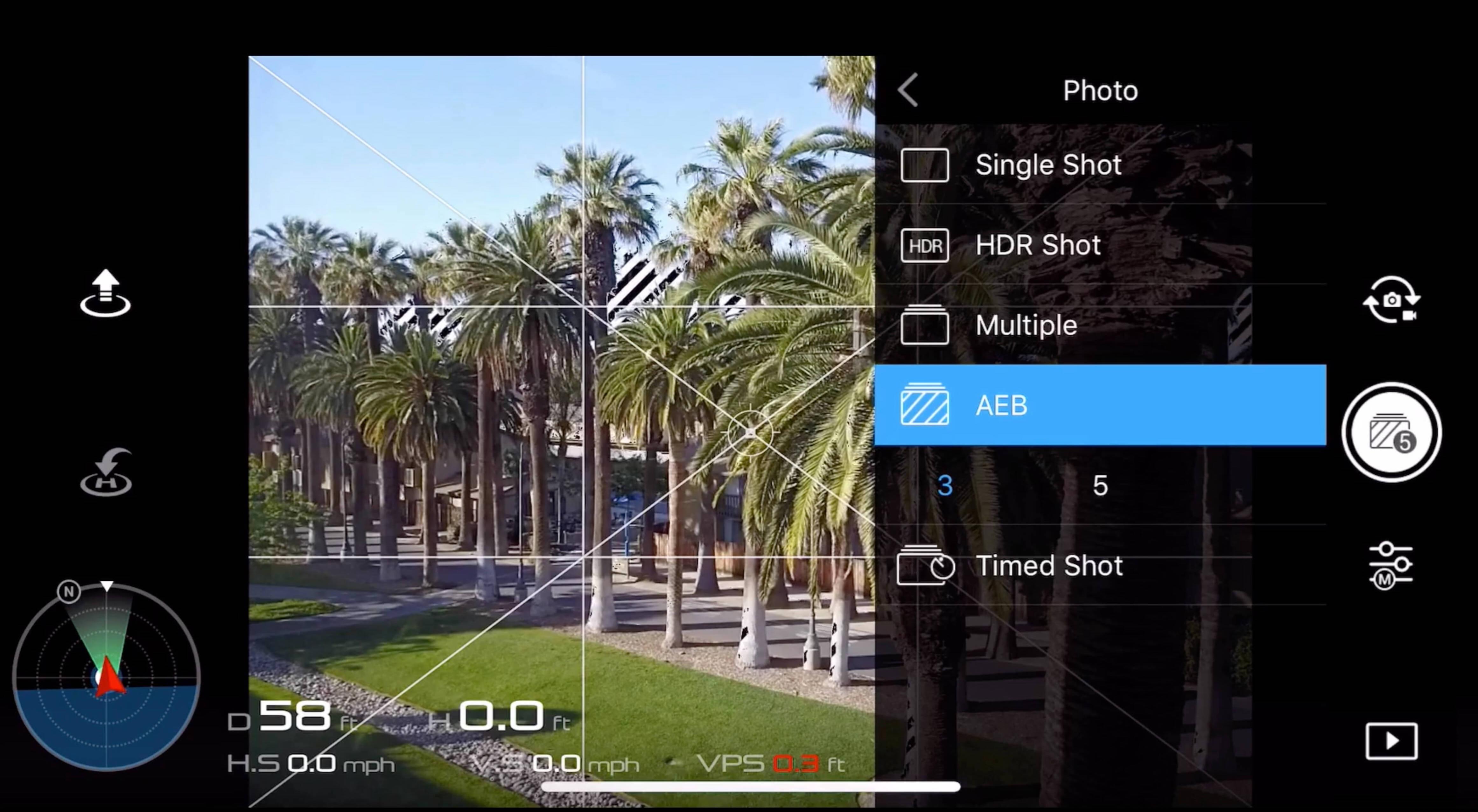 basic camera settings for dji drone photos - AEB 1