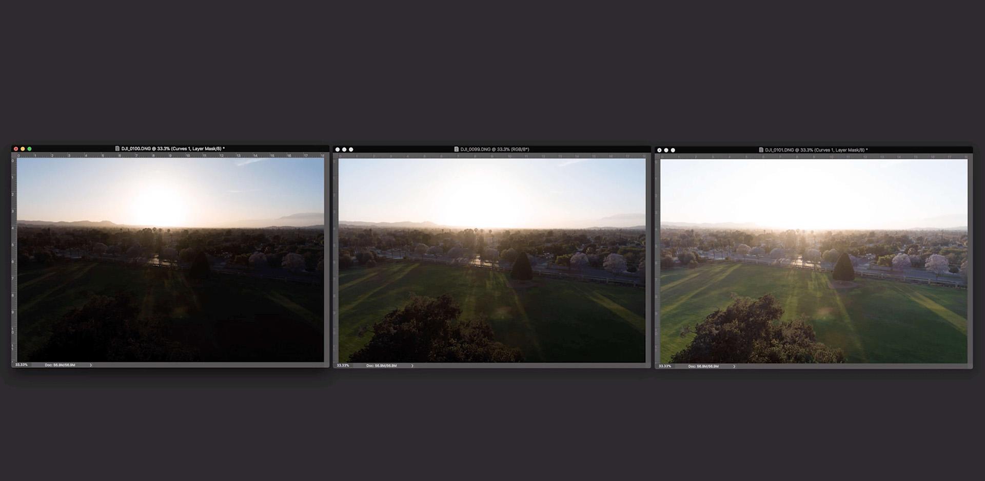 basic camera settings for dji drone photos - AEB 2