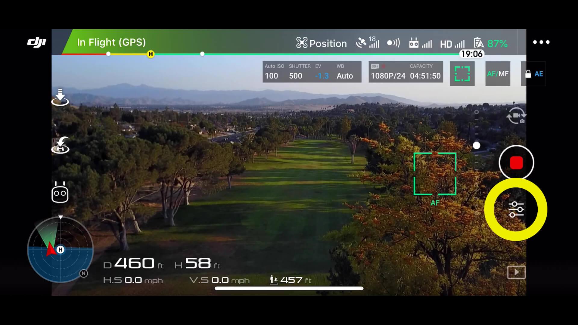 dji drone photos - 0 menu settings