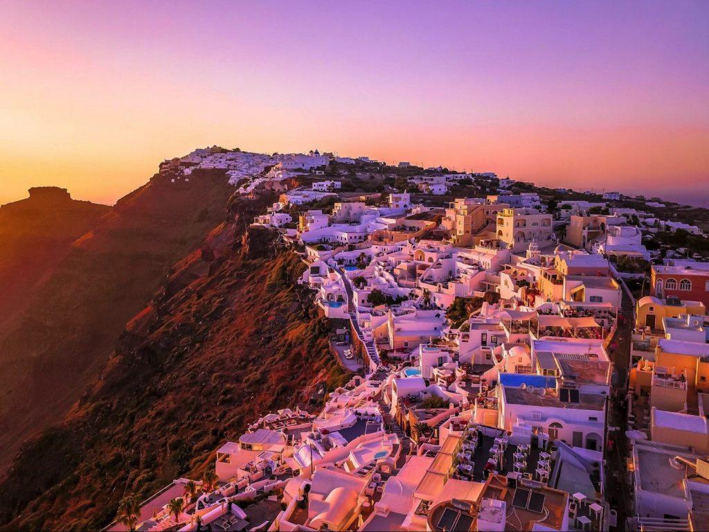 whitehouse villages in Santorini, Greece